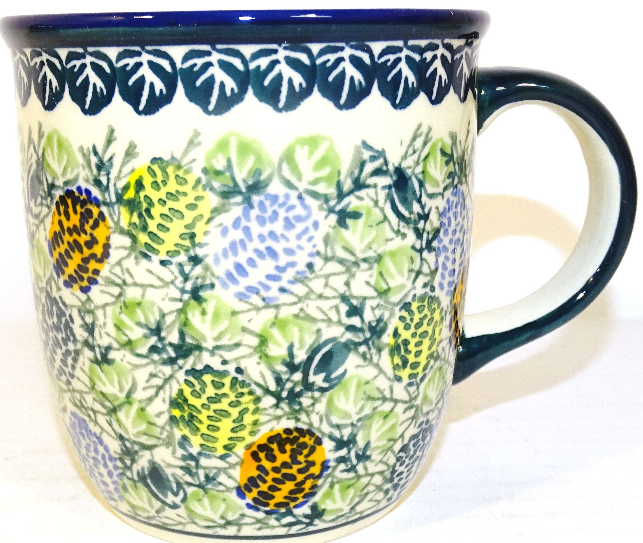 Pottery Avenue 12-oz PINECONE Stoneware Coffee Mug   ARTISAN