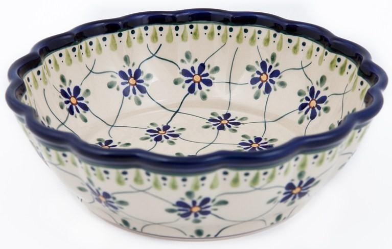 Pottery Avenue SWEETHEART Scalloped Stoneware Serving Bowl | ARTISAN