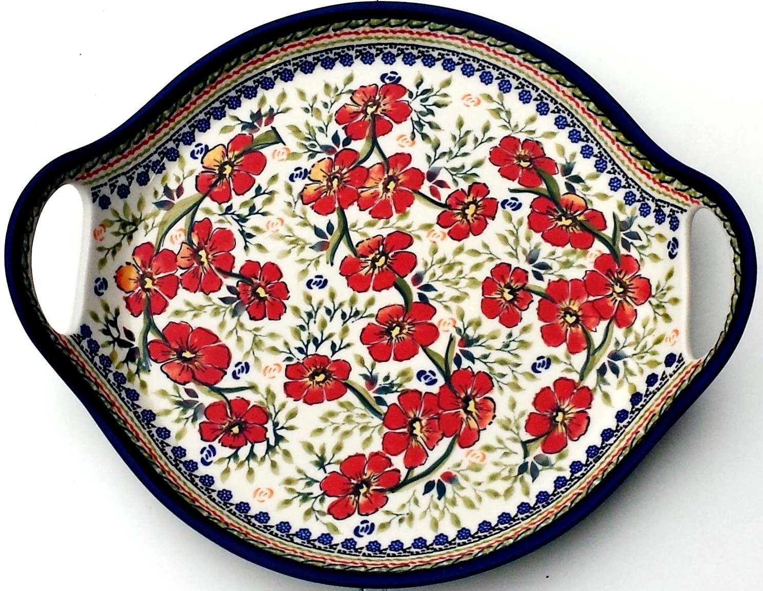 "Pottery Avenue 12.5""  Round Serving Dish | EX UNIKAT"