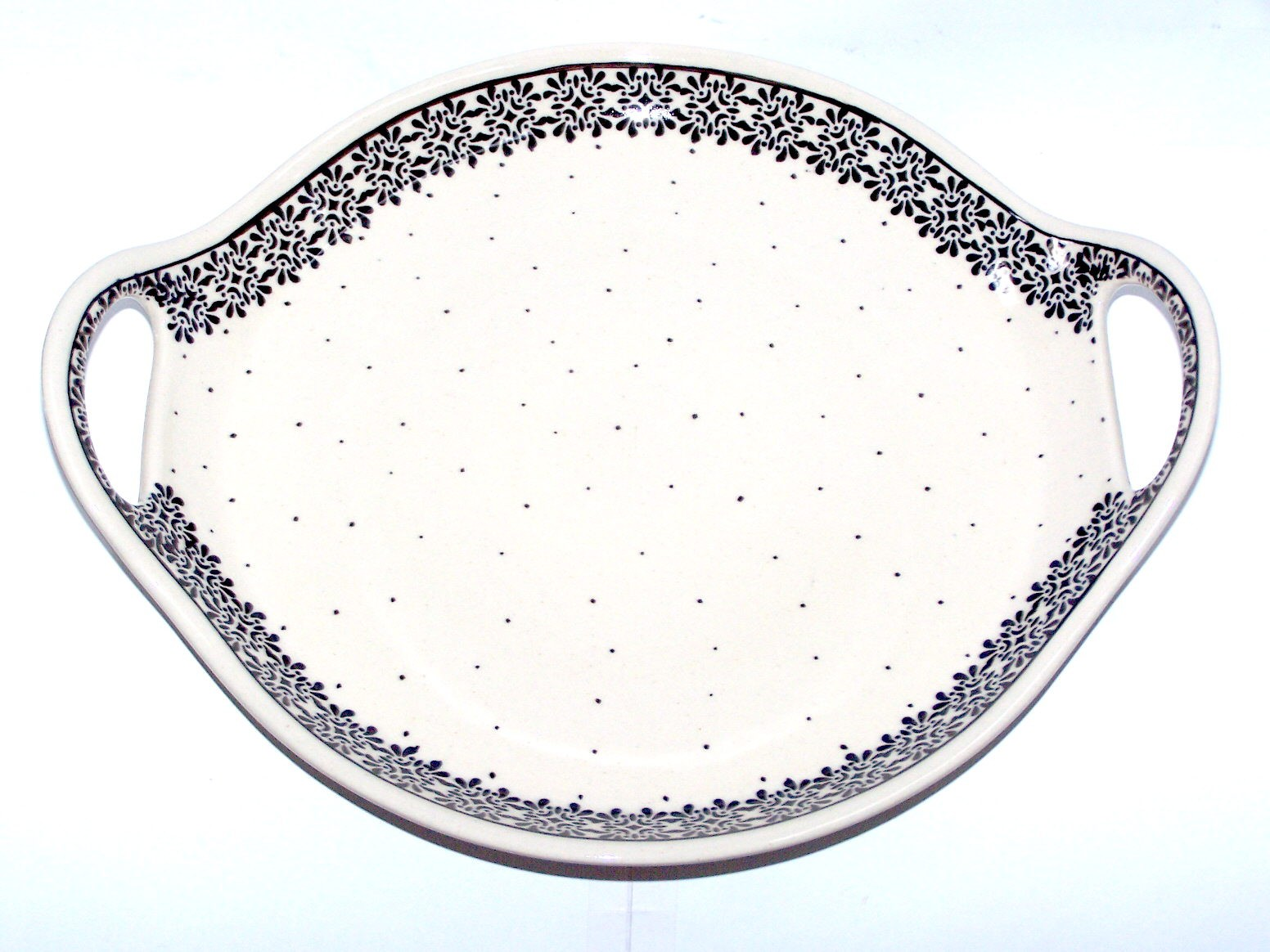 """Pottery Avenue 12.5"""" TRENDY TIMES Stoneware Round Serving Dishes 