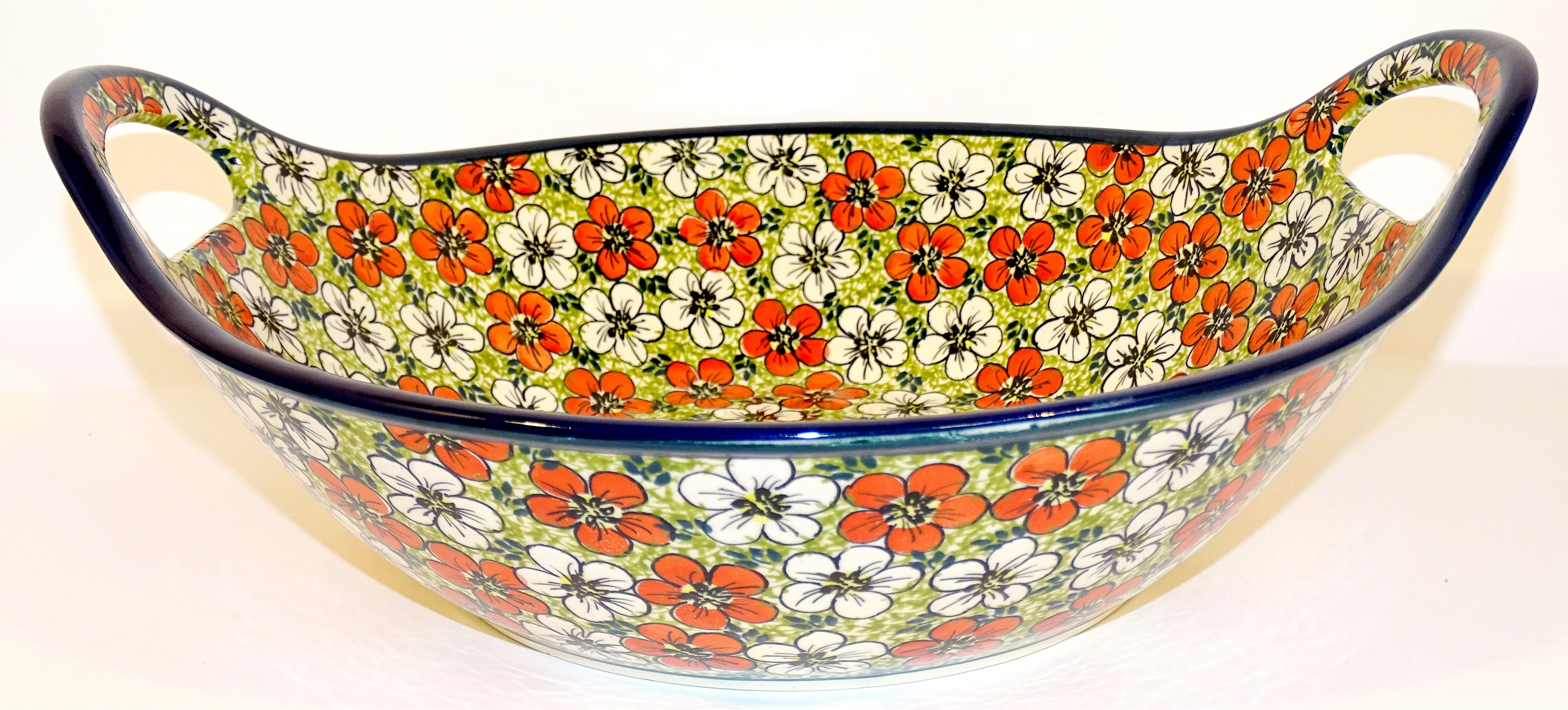"Pottery Avenue 13"" Handled Bowl-Baker 
