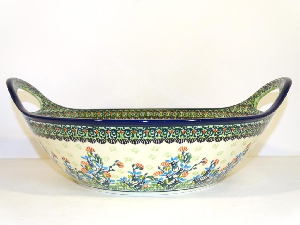 "Pottery Avenue 13""  SEA GARDEN Stoneware Bowls With Handles | ARTISAN"
