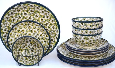 Bacopa Flower Dinner Set-12 Piece
