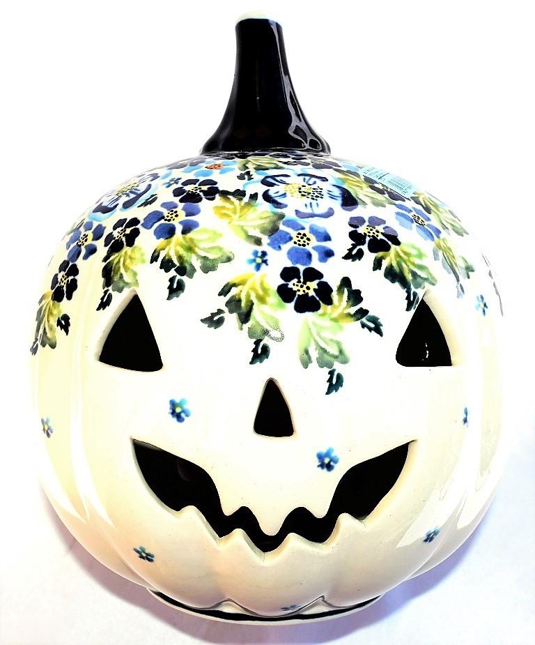 Pottery Avenue TRUE BLUES Halloween Jack O' Lantern | ARTISAN