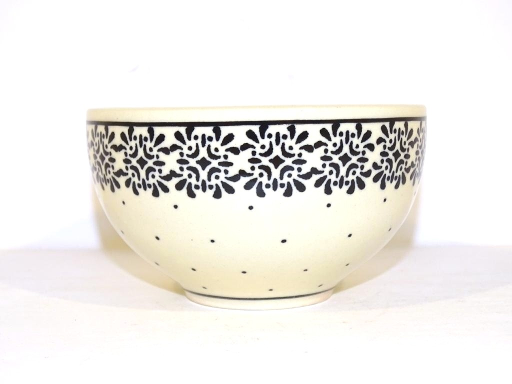 """Pottery Avenue 4.5"""" TRENDY TIMES Small Stoneware Cereal Bowls 