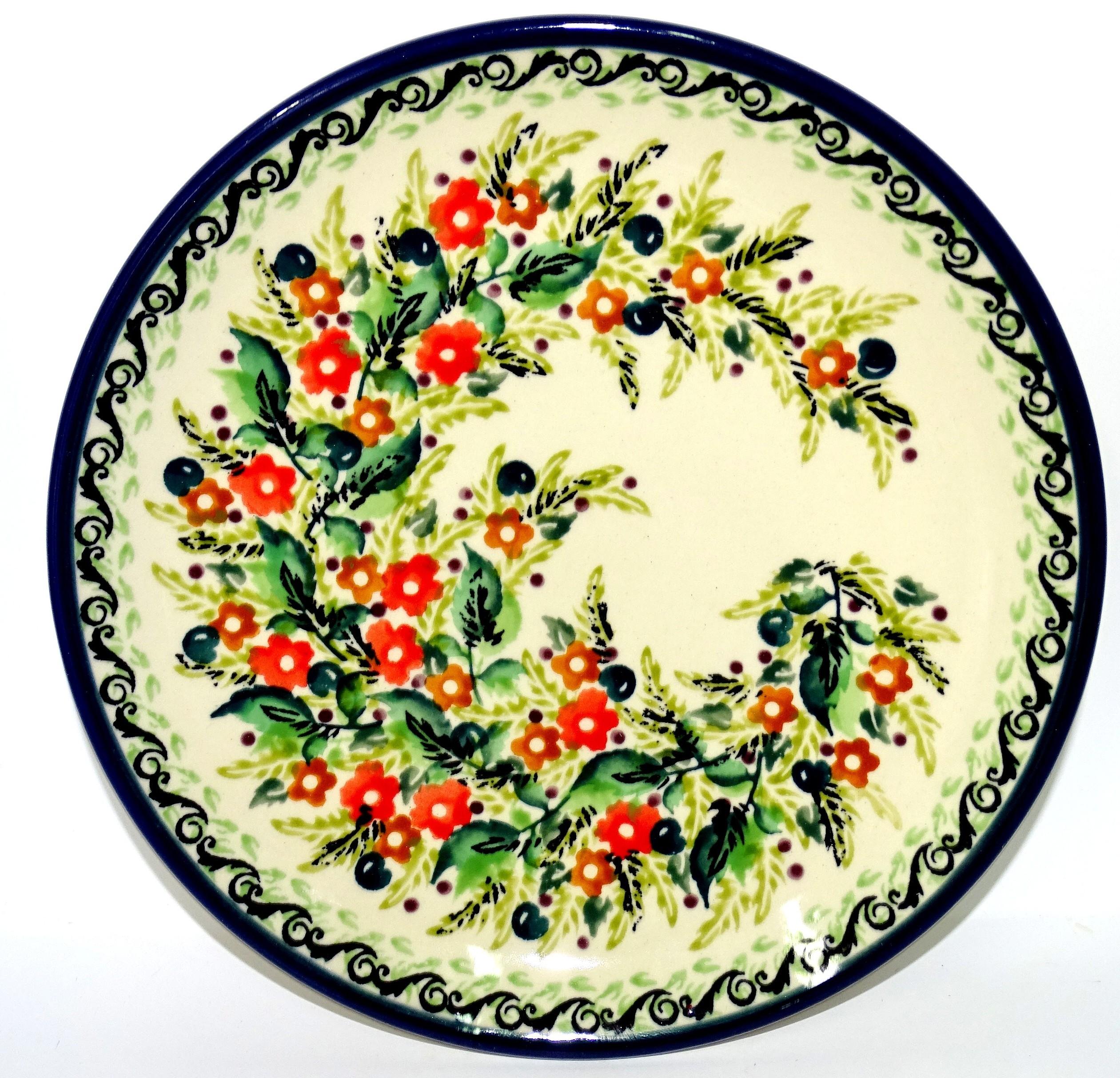 "Pottery Avenue 7.75"" SEASONS Stoneware Salad Plate   UNIKAT"