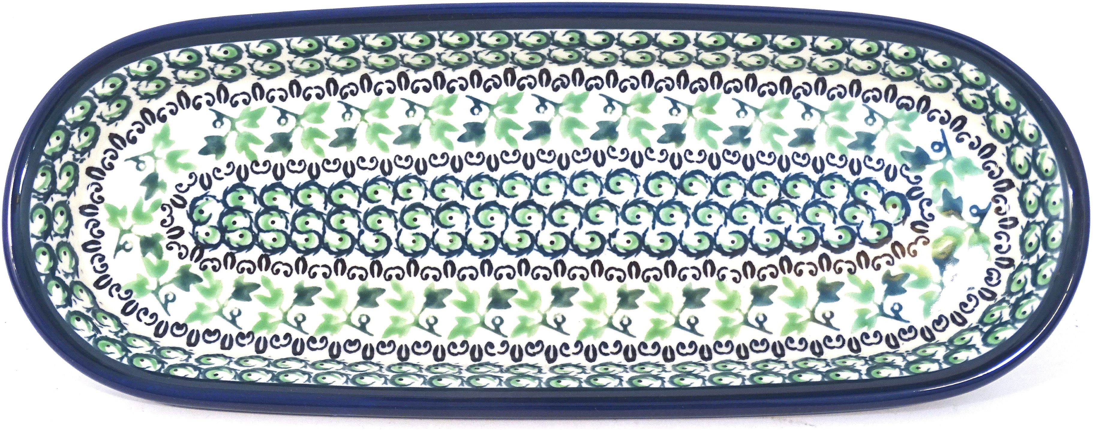 "Pottery Avenue 11"" IVY Stoneware Serving Tray 