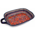 """Pottery Avenue UNIKAT 14"""" CHERISHED FRIENDS Serving Trays With Handles"""