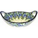 "Pottery Avenue 13""  TRUE BLUES Stoneware Bowls With Handles   ARTISAN"