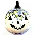 Pottery Avenue TRUE BLUES Halloween Jack O' Lantern   ARTISAN