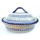 "Pottery Avenue 12.5"" Covered Casserole Baker 