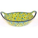 "Pottery Avenue 13"" CITRINE Baker Bowl With Handle 