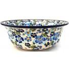 "Pottery Avenue 10"" TRUE BLUES Stoneware Serving Bowls   ARTISAN"