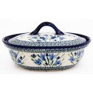 Pottery Avenue 1.5L BLUE TULIP Covered Casserole Dish | UNIKAT