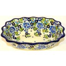 "Pottery Avenue 9.6"" TRUE BLUES Fancy Rimmed Soup Bowls 