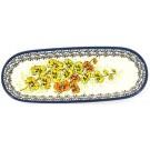 "Pottery Avenue 11"" ORCHID Cracker-Olive Stoneware Tray | UNIKAT"