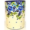 "Pottery Avenue 7"" TRUE BLUES Stoneware Utensil Jar | ARTISAN"