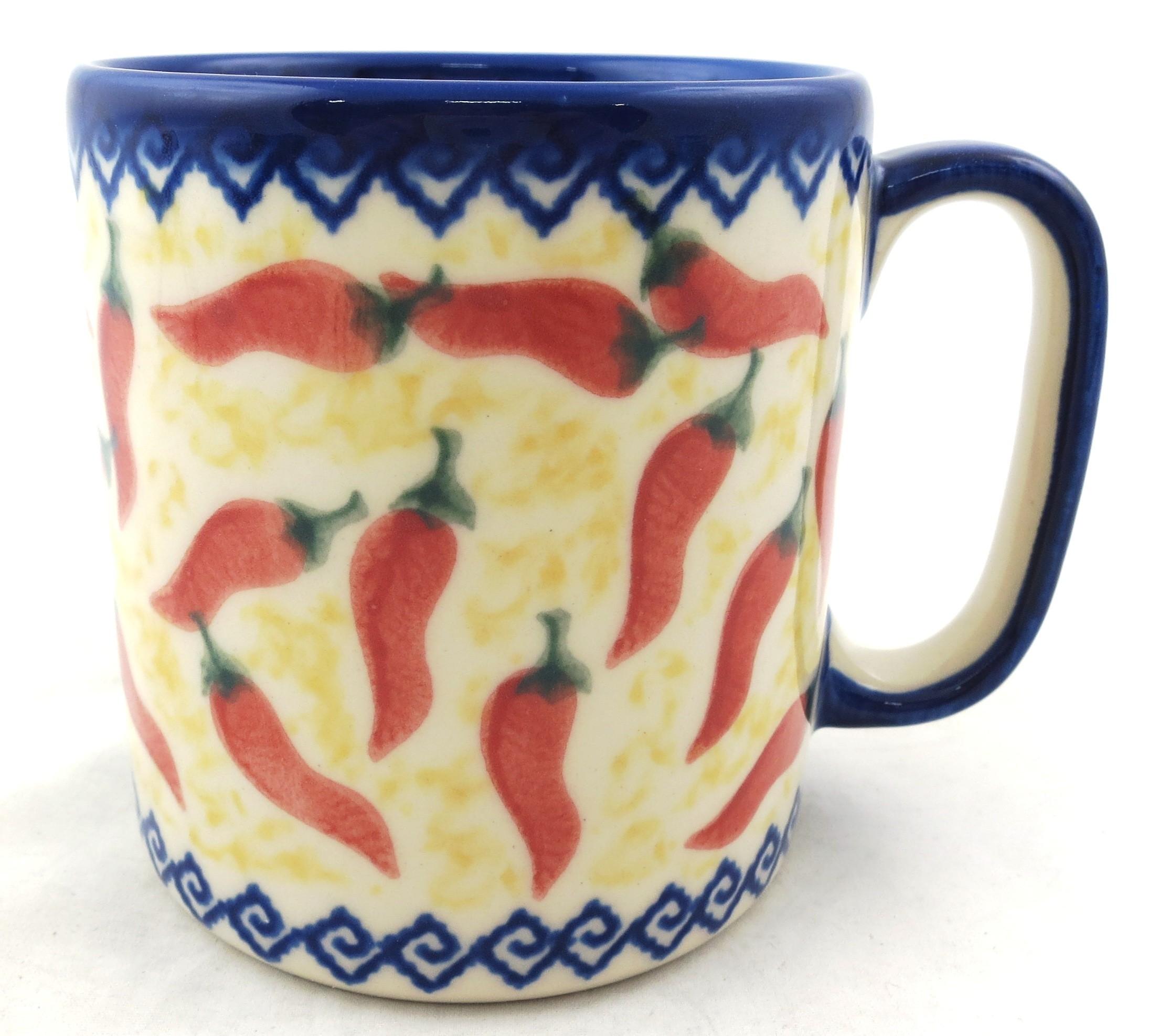 Pottery Avenue 12-oz RED HOT Stoneware Coffee Mug | VENA UNIKAT