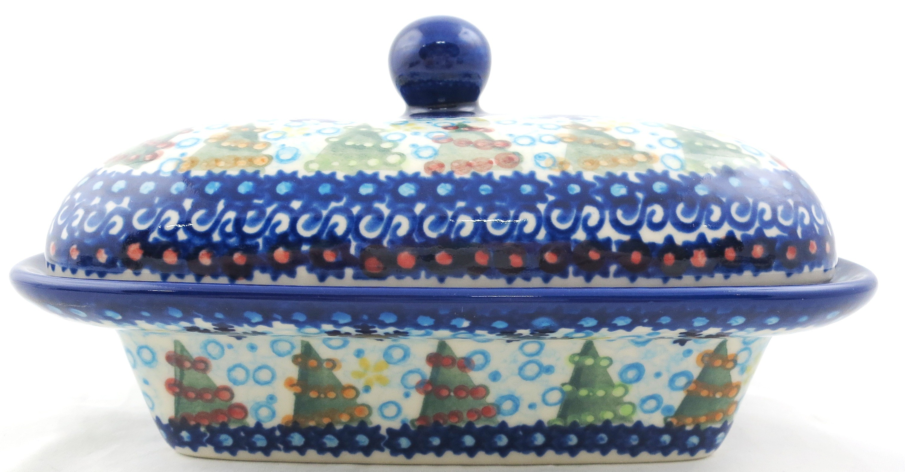 Pottery Avenue TREELIGHTS Stoneware Covered Butter Dish | VENA