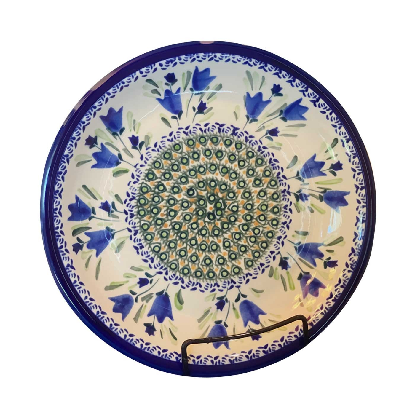 "Pottery Avenue 11"" Stoneware Dinner Plate -1014-160AR Blue Tulip"