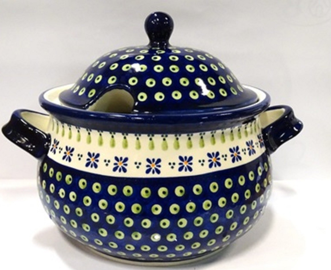Pottery Avenue Drops of Joy 12.5 Cup, 2pc Stoneware Soup Tureen