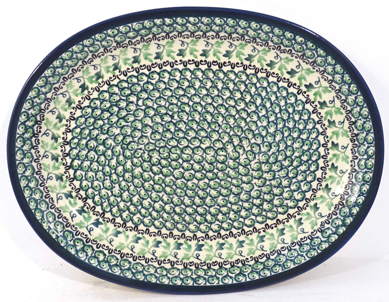 "Pottery Avenue Ivy 11.5"" Oval Stoneware Platter - Plate"