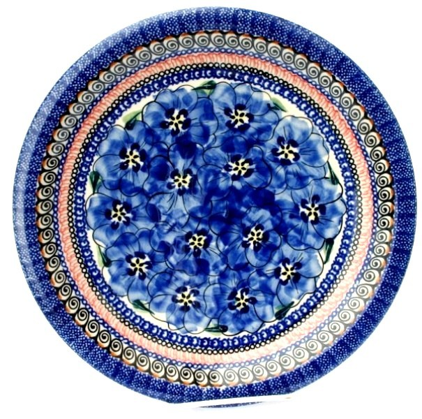 "Pottery Avenue 11"" Stoneware Dinner Plate -1014-148AR Blue Pansy"