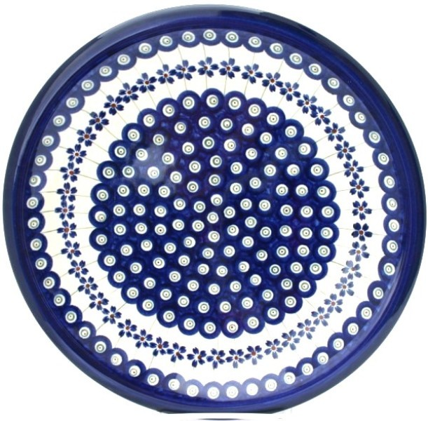 "Pottery Avenue 11"" Stoneware Dinner Plate -1014-166A Flowering Peacock"