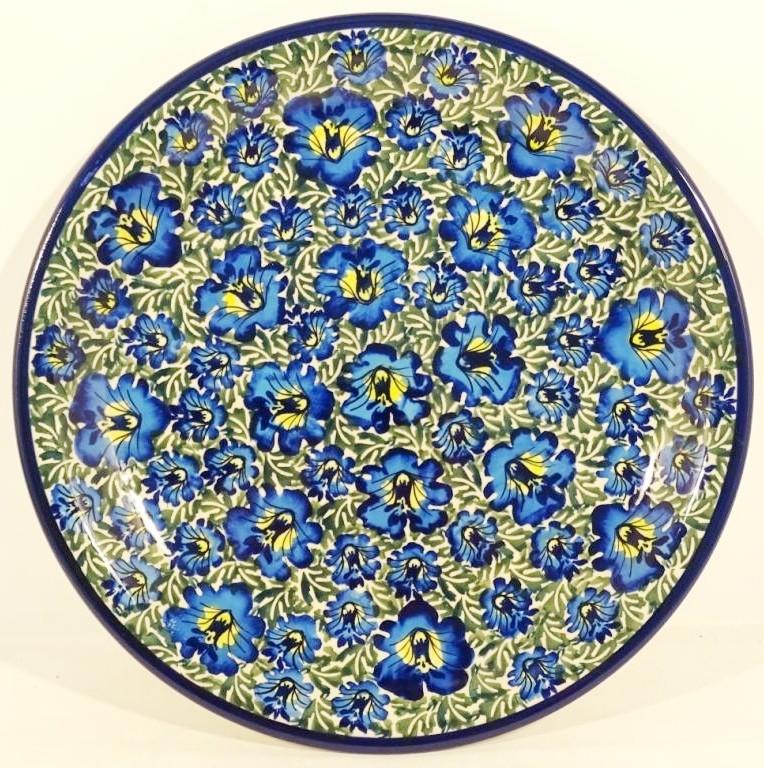 "Pottery Avenue 7.75"" Stoneware Salad-Luncheon Plate - 814-313AR Blue Lagoon"