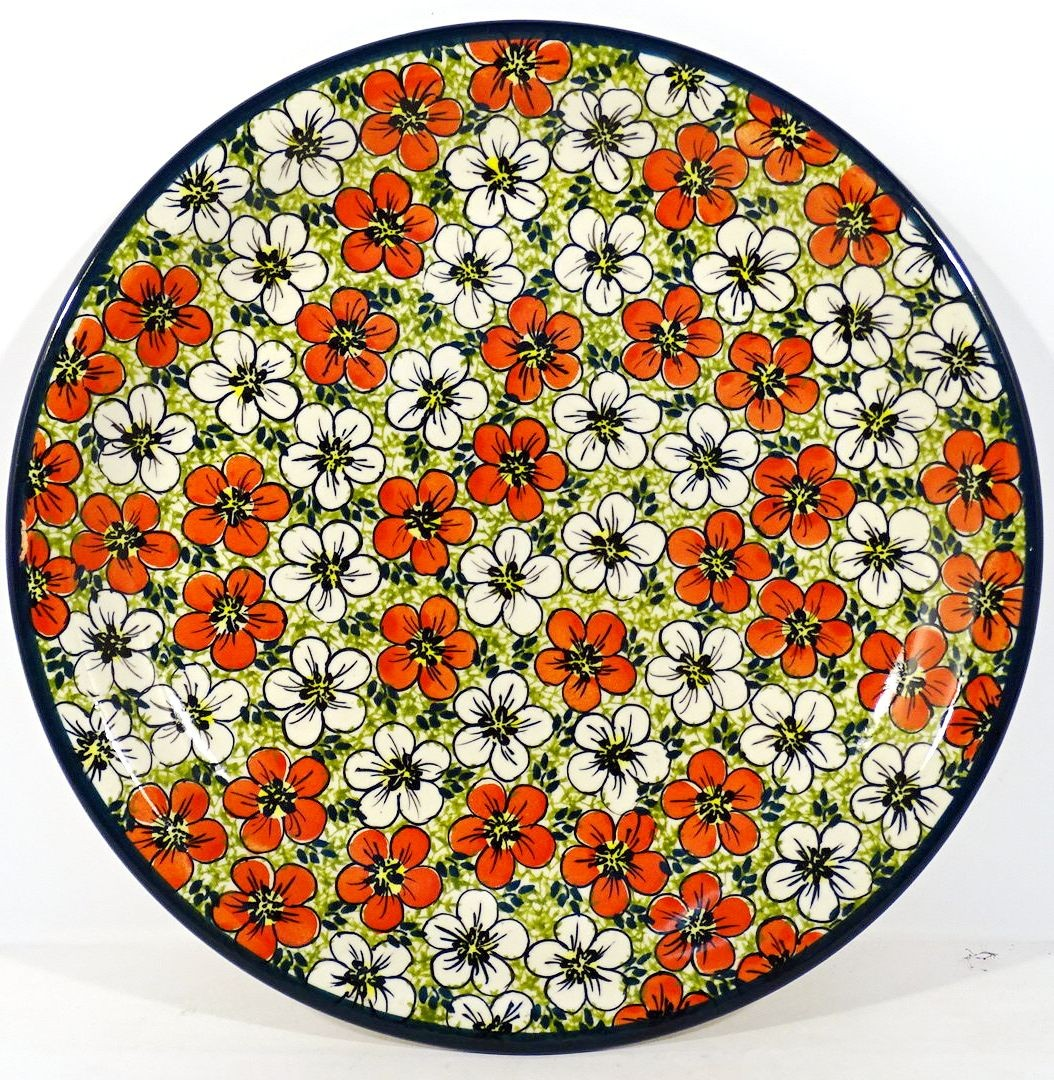 "Pottery Avenue 7.75"" Stoneware Salad-Luncheon Plate - 814-331AR Red Bacopa"