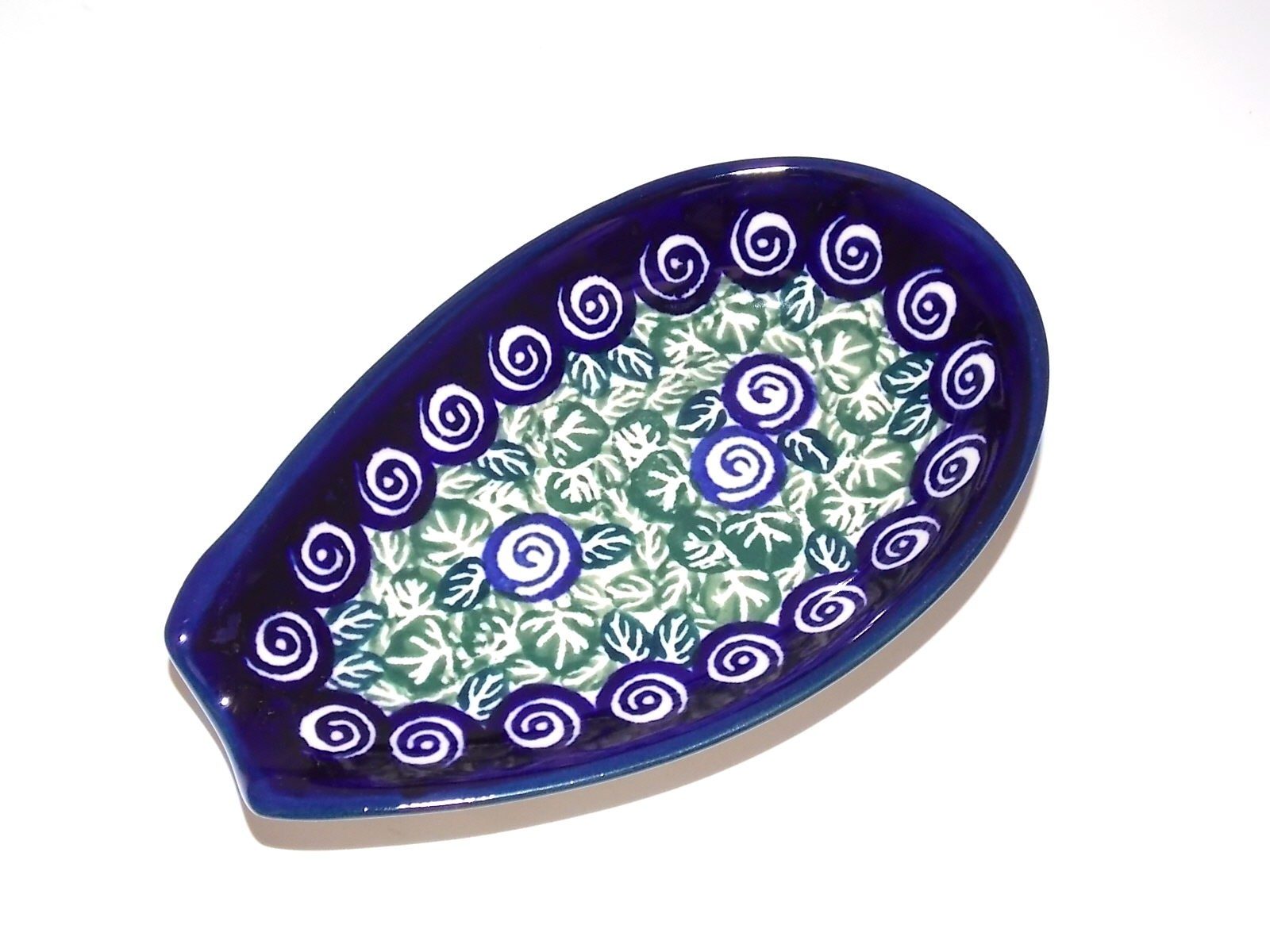 "Polish Pottery 5"" LIMITED EDITION Spoon Rest 