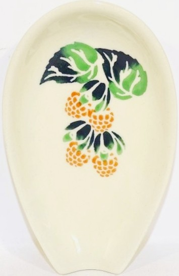 "Polish Pottery 5"" RAZBERRY Spoon Rest | CLASSIC"