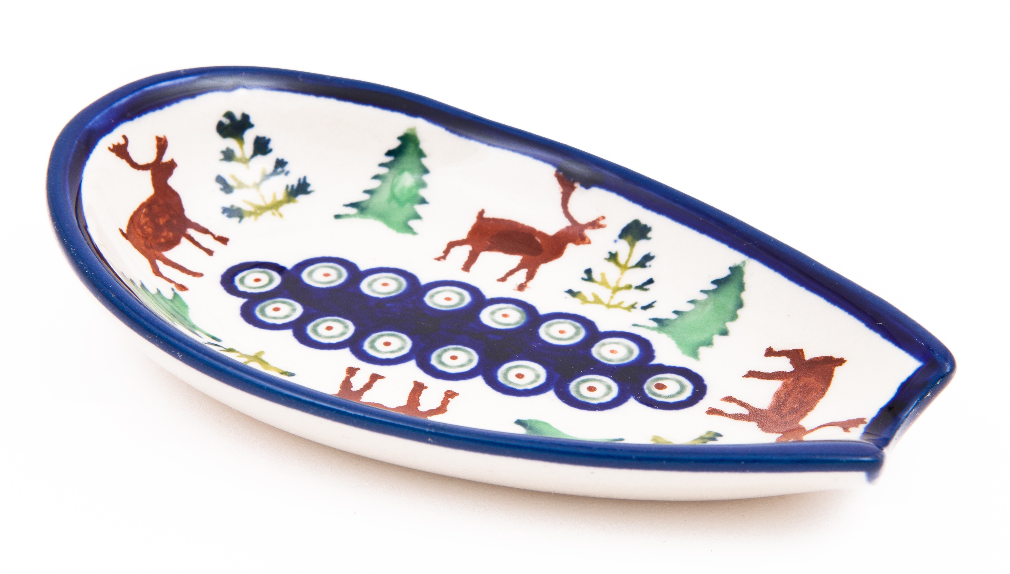"Polish Pottery 5"" CARIBOU LODGE Spoon Rest 