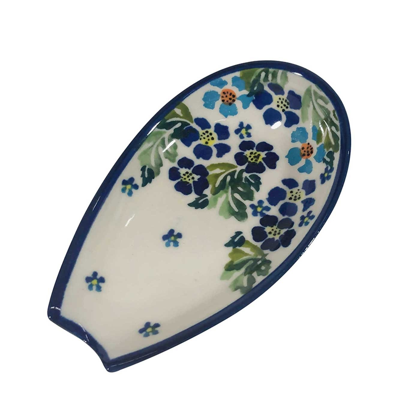 "Pottery AvenueTrue Blues 5"" Stoneware Spoon Rest"