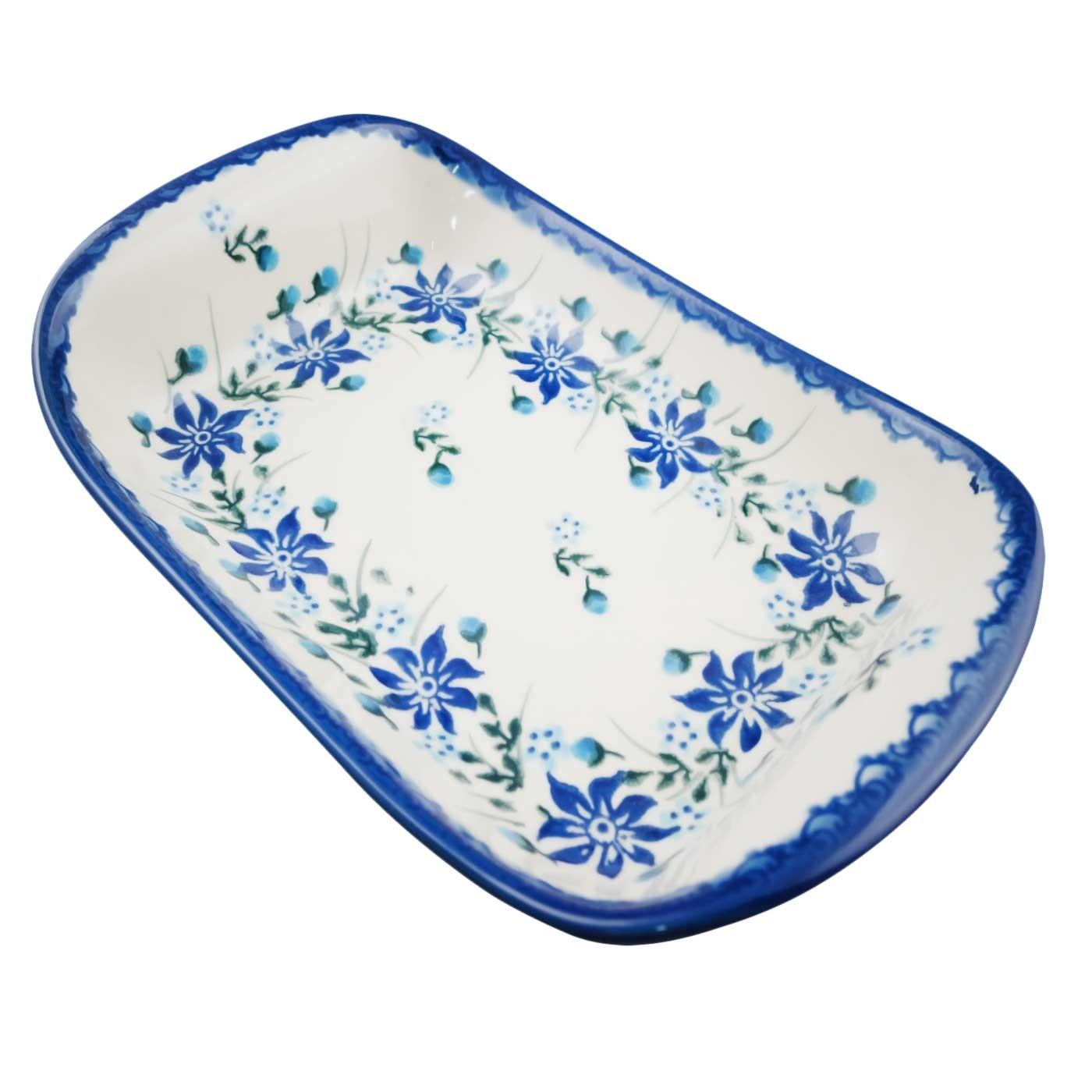 Pottery Avenue Large Stoneware Flared Dish - V108-C106 Star Gazer