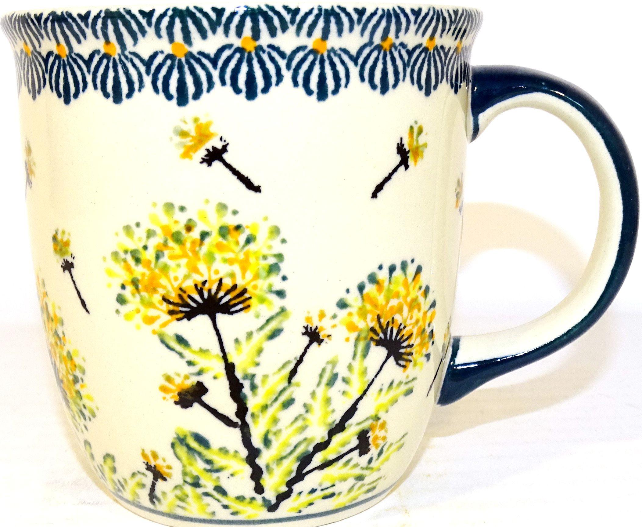 Polish Pottery WISH 12-oz Stoneware Mug | ARTISAN