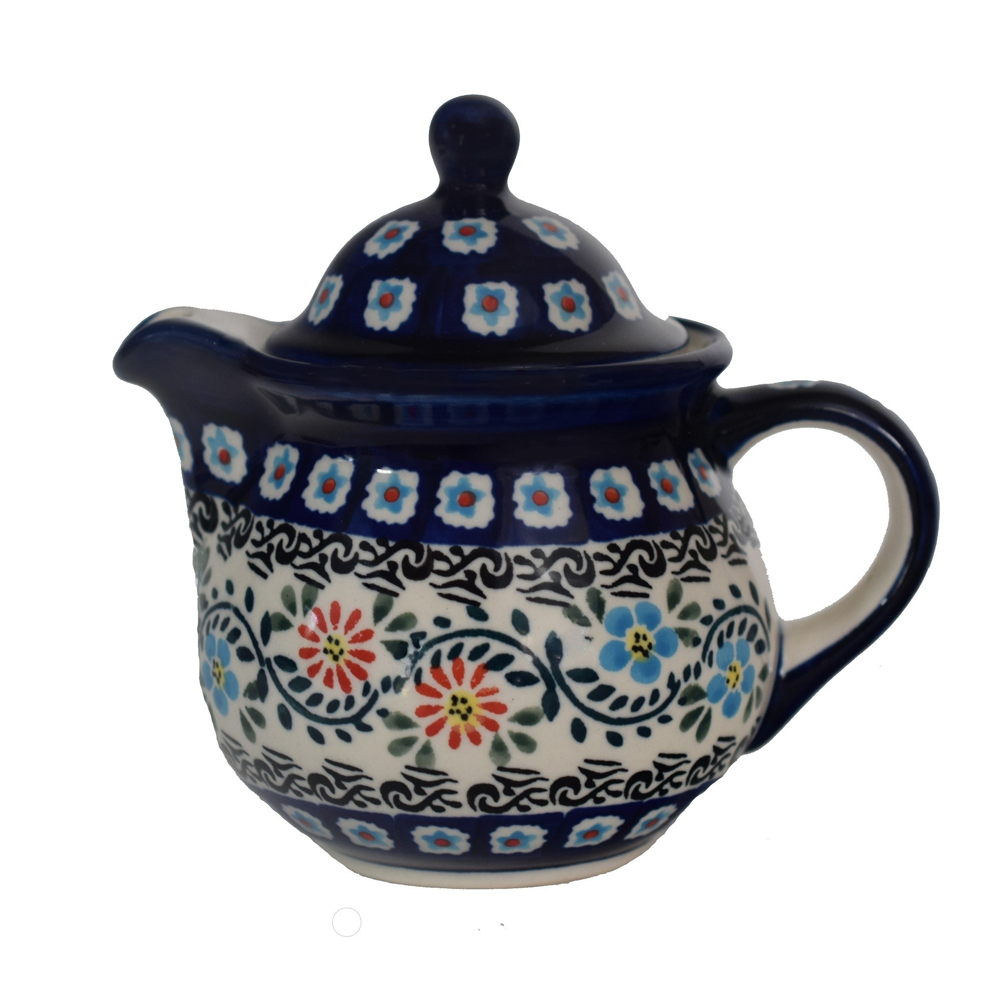 Polish Pottery Personal HERITAGE HOME 10 oz. Teapot | CLASSIC