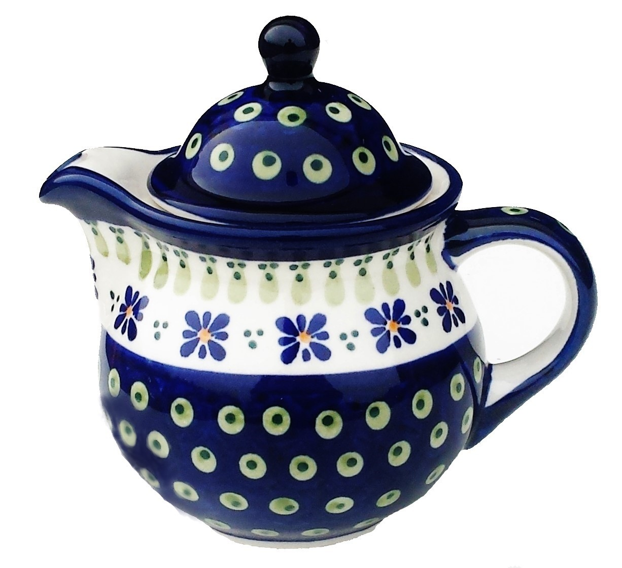 Polish Stoneware Personal 10oz Stoneware Teapot - 1113-296A Drops of Joy