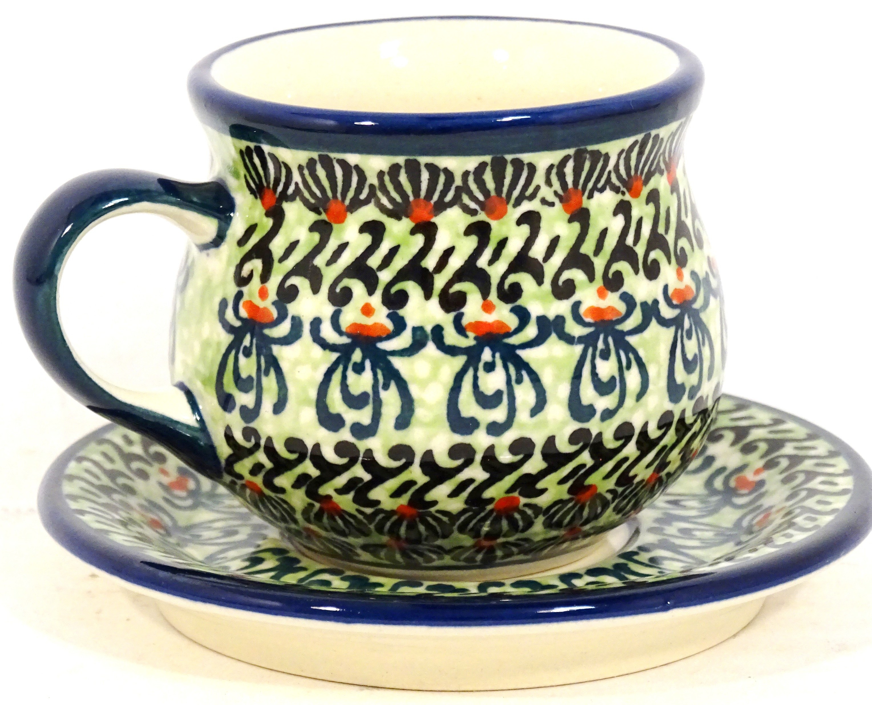 Pottery Avenue Espresso-Demitasse Stoneware Cup and Saucer - 1121-1117-DU181 Buggsy