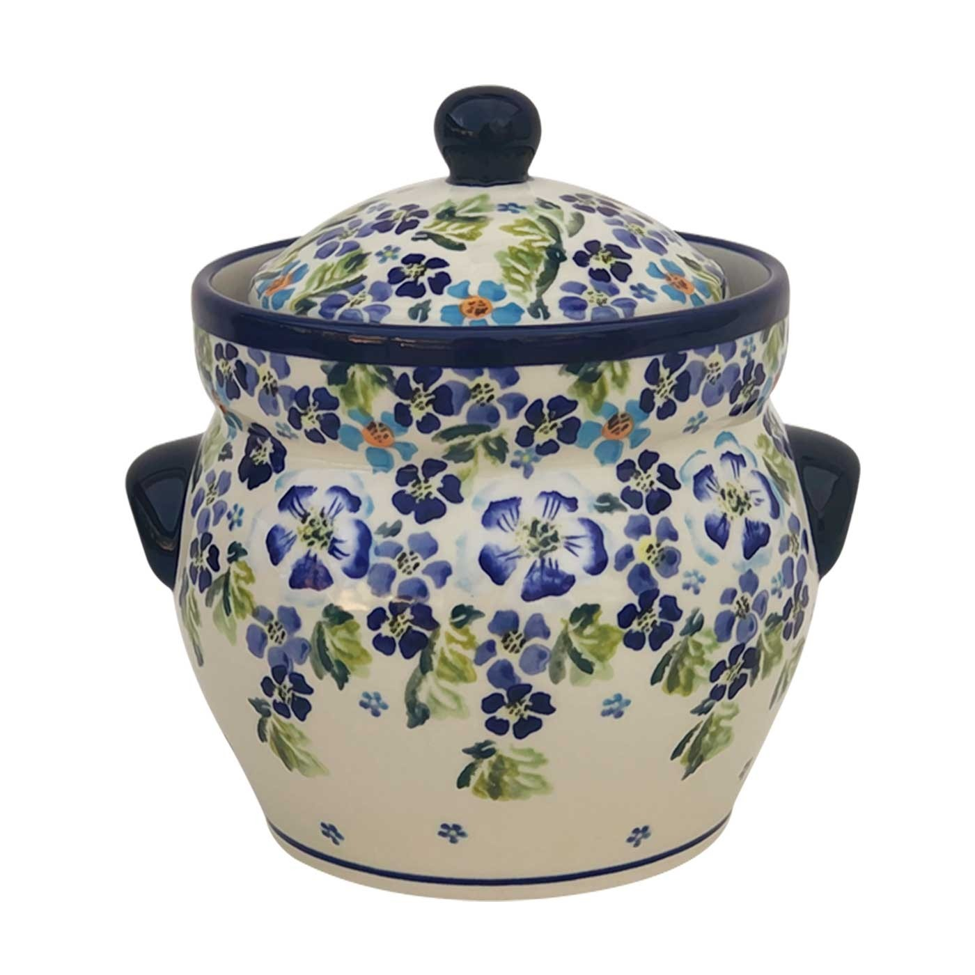 Pottery Avenue 7.6-cup Stoneware Canister - 1125-DU207 True Blues