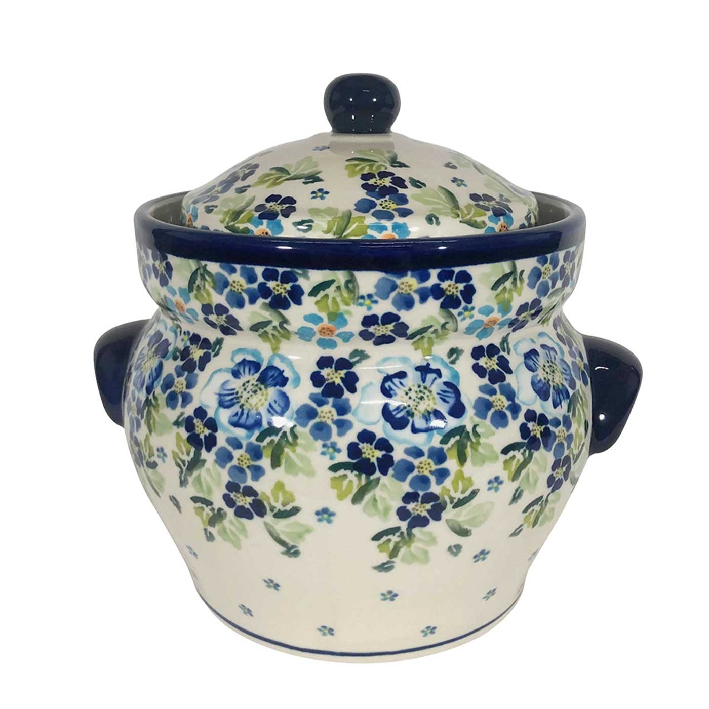Pottery Avenue 16-cup Stoneware Canister - 1127-DU207 True Blues