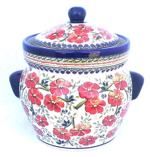 Pottery Avenue EX-UNIKAT LOVE BLOSSOMS 16-cup Stoneware Canister - 1127-252EX