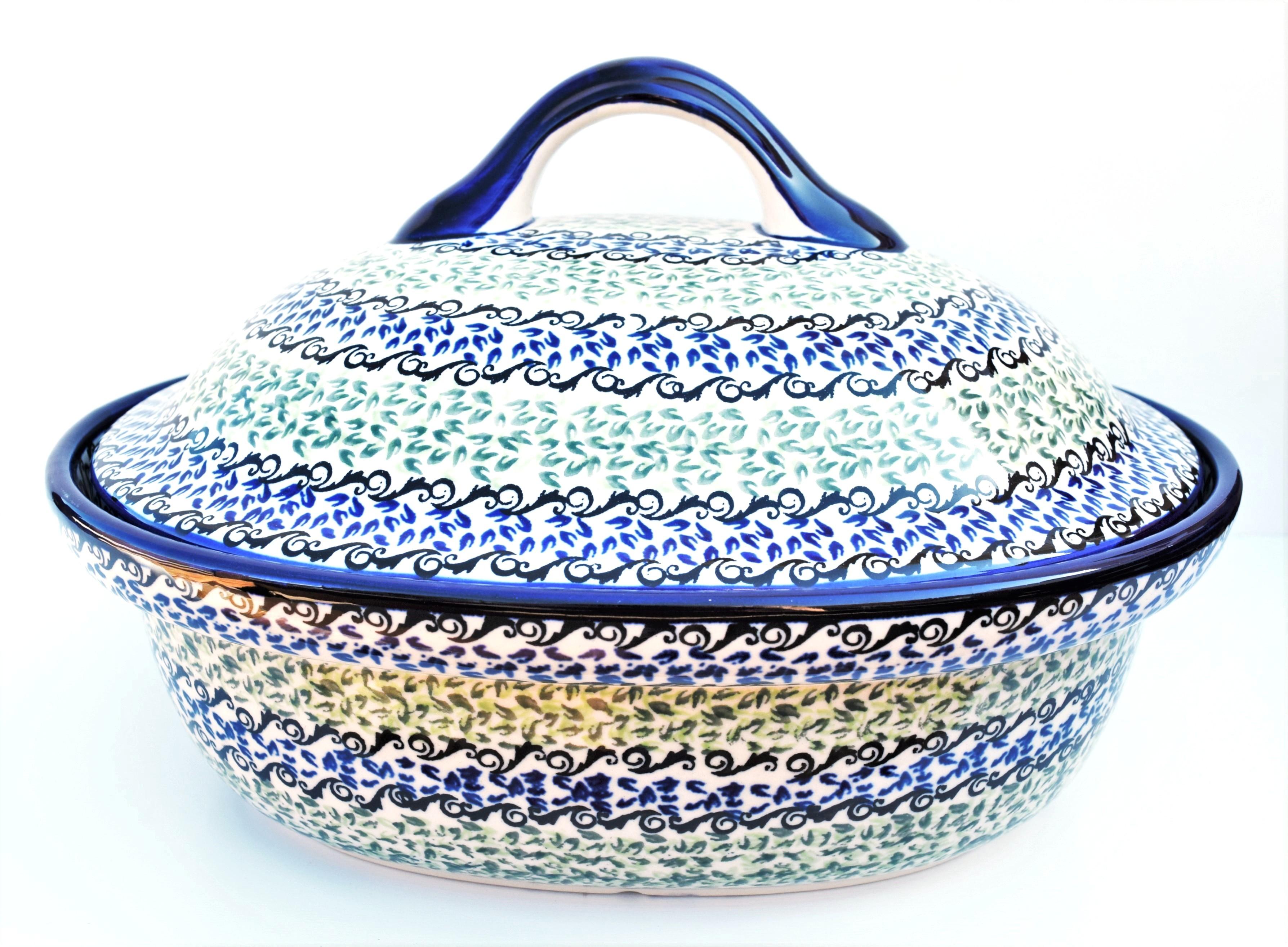 Pottery Avenue Large Oval Stoneware 2pc Baker - 1158-1182A Celebrate