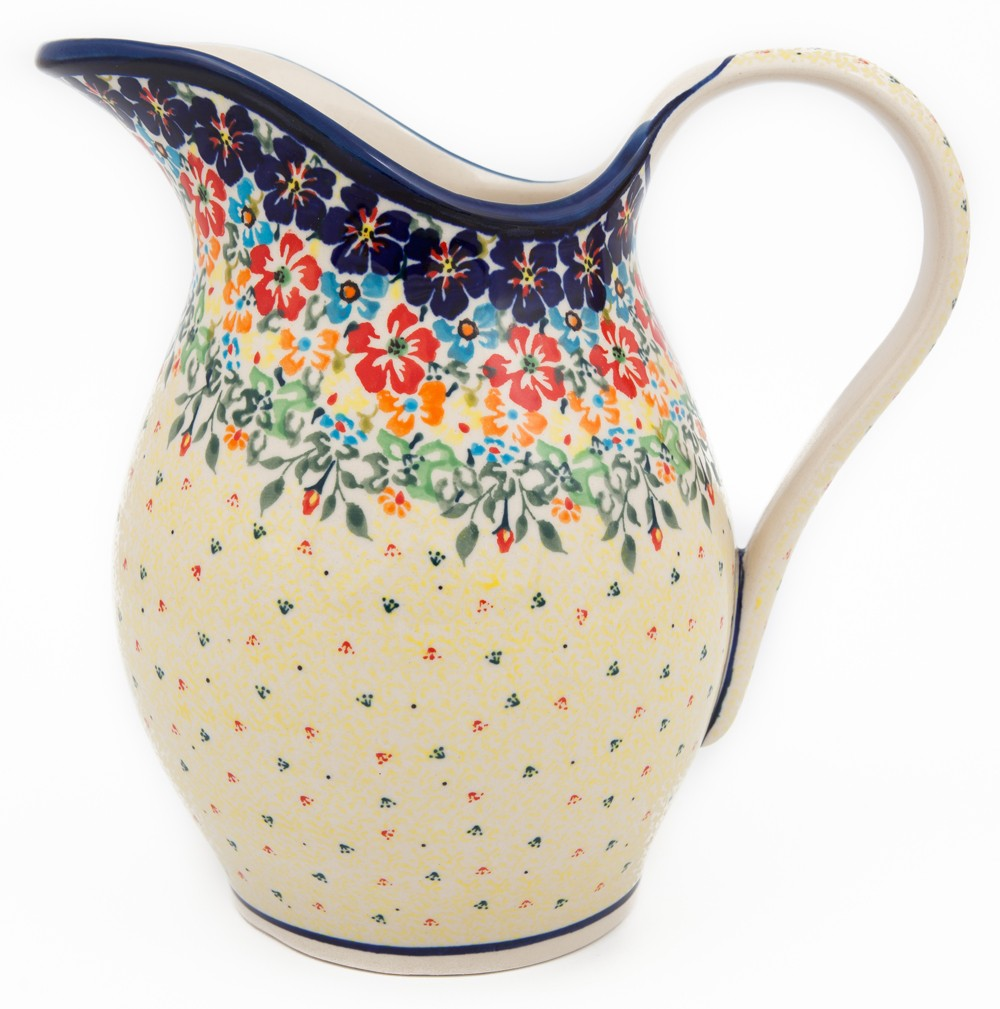 Pottery Avenue 2-Quart Stoneware Pitcher - Vase - 1160-262AR Flowering Splendor