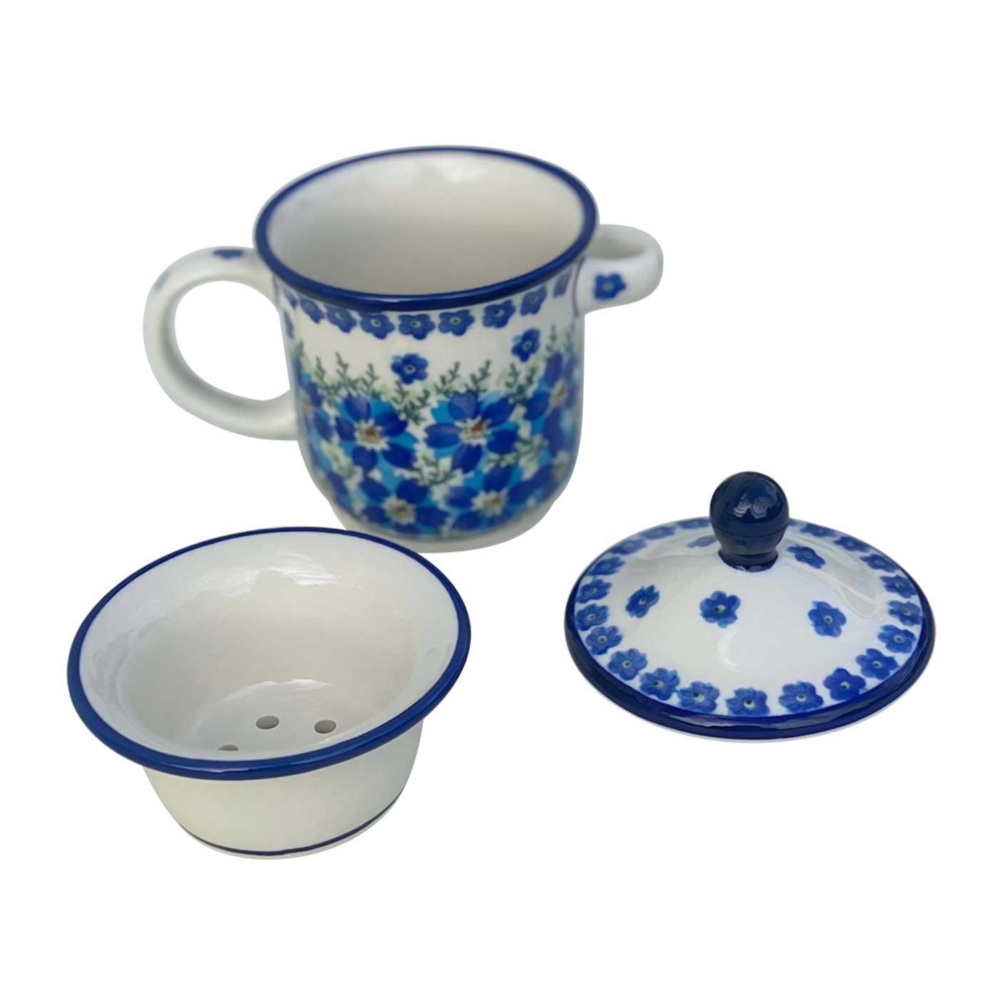 Pottery Avenue 12-oz Stoneware Standard Infuser Mug - 1105-DU233 MOD FLORAL