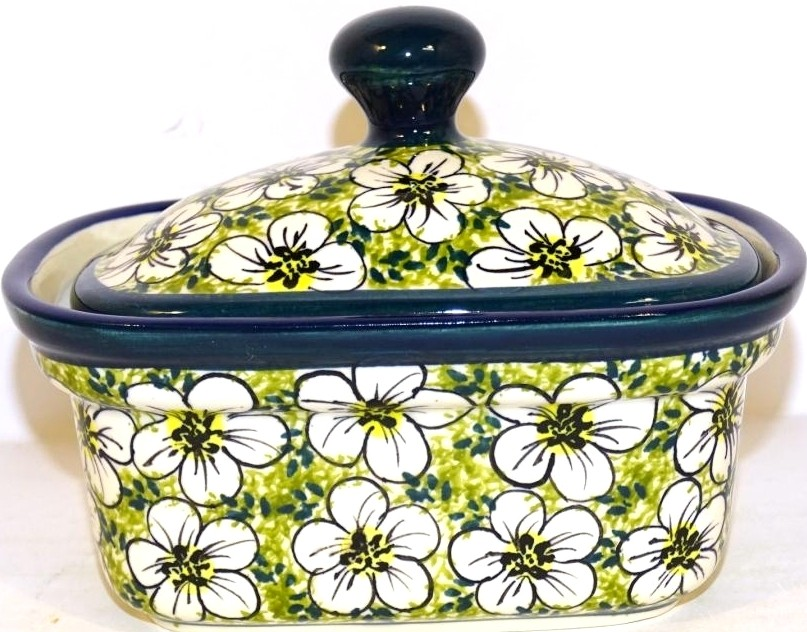 "Polish Pottery 6"" BACOPA Butter Keeper 