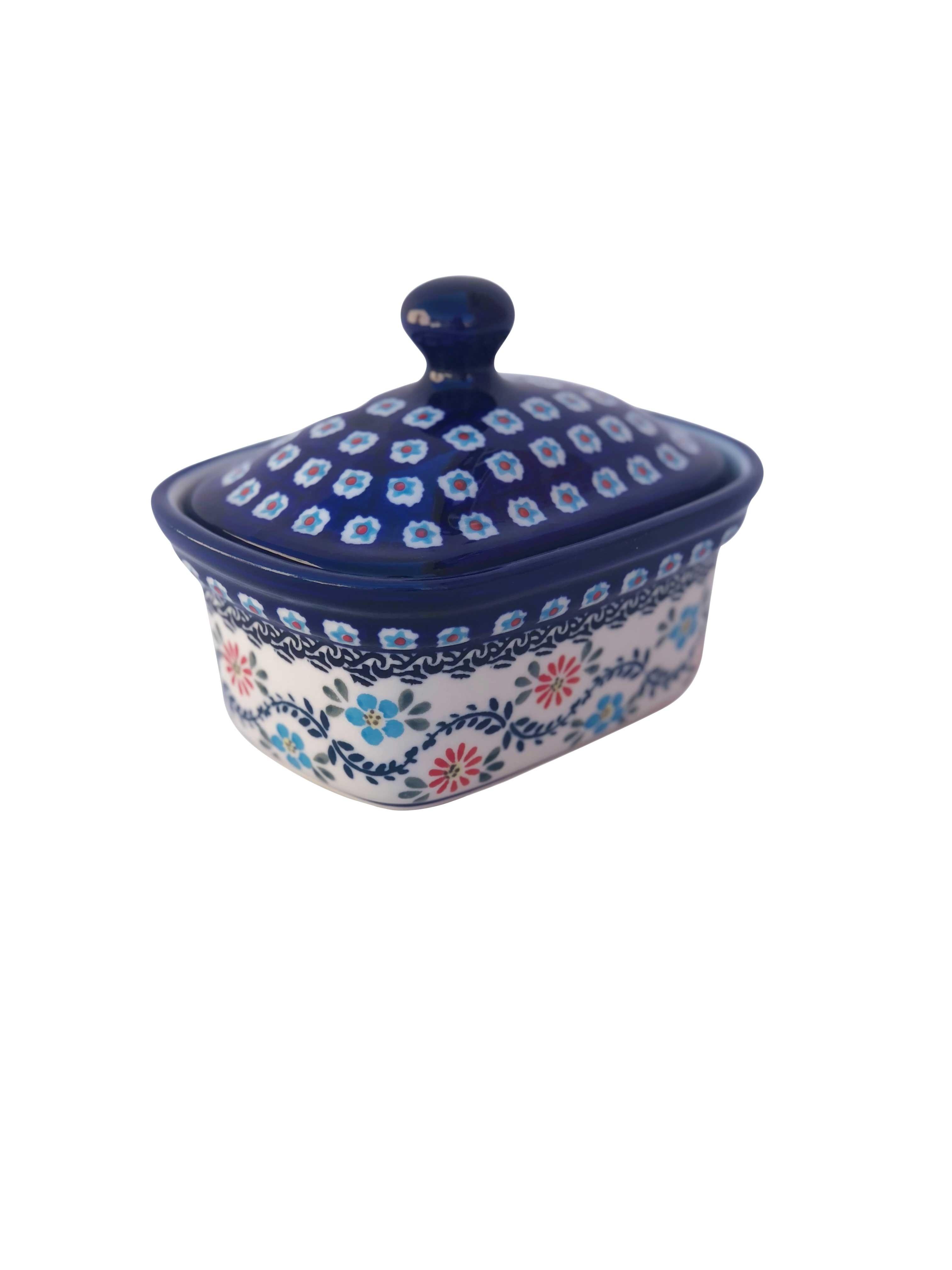 Pottery Avenue Heritage Home 2pc Stoneware Butter Box
