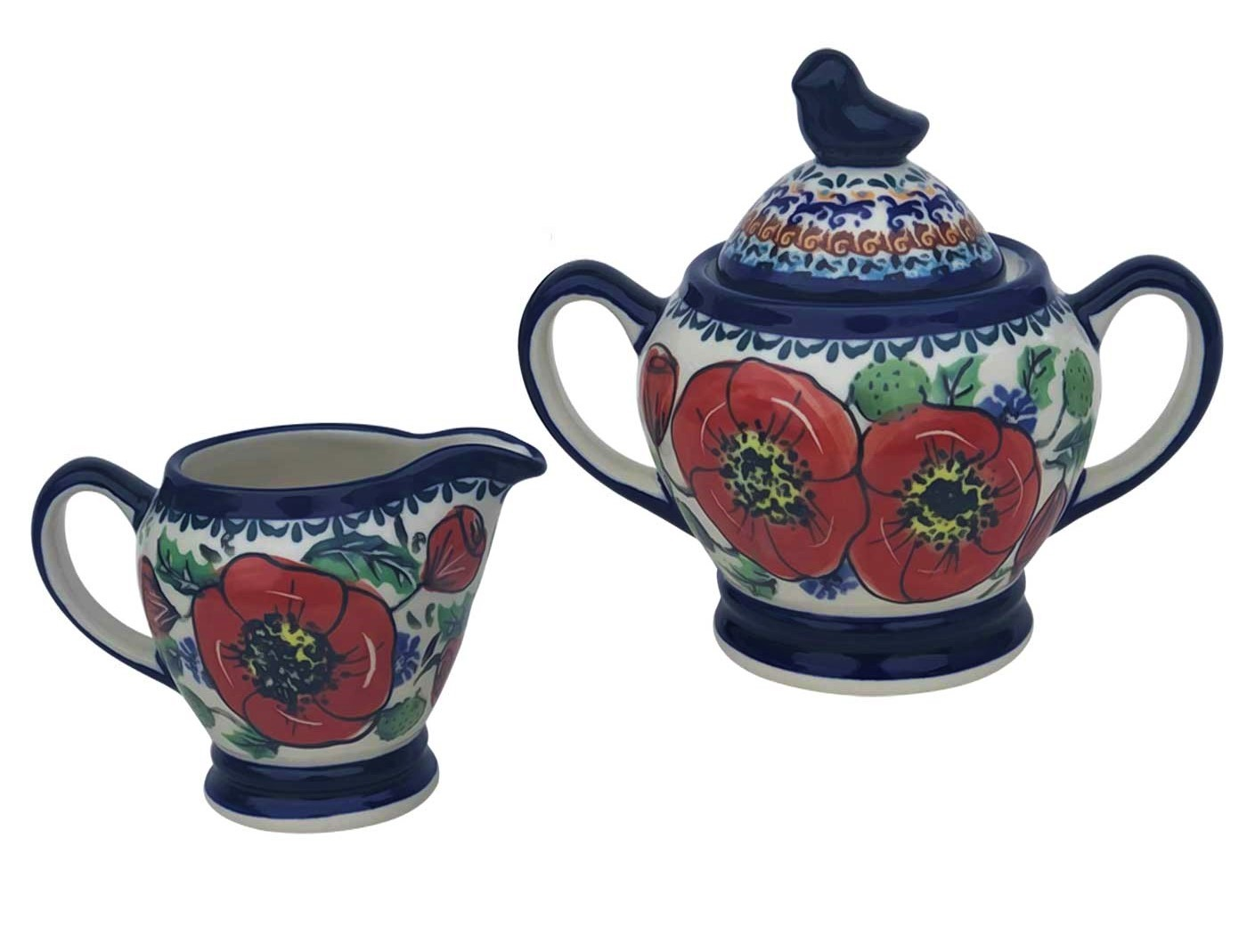Pottery Avenue Stoneware 2-Piece Stoneware Creamer & Sugar Set ~ 1234-1235-257EX Bellissima
