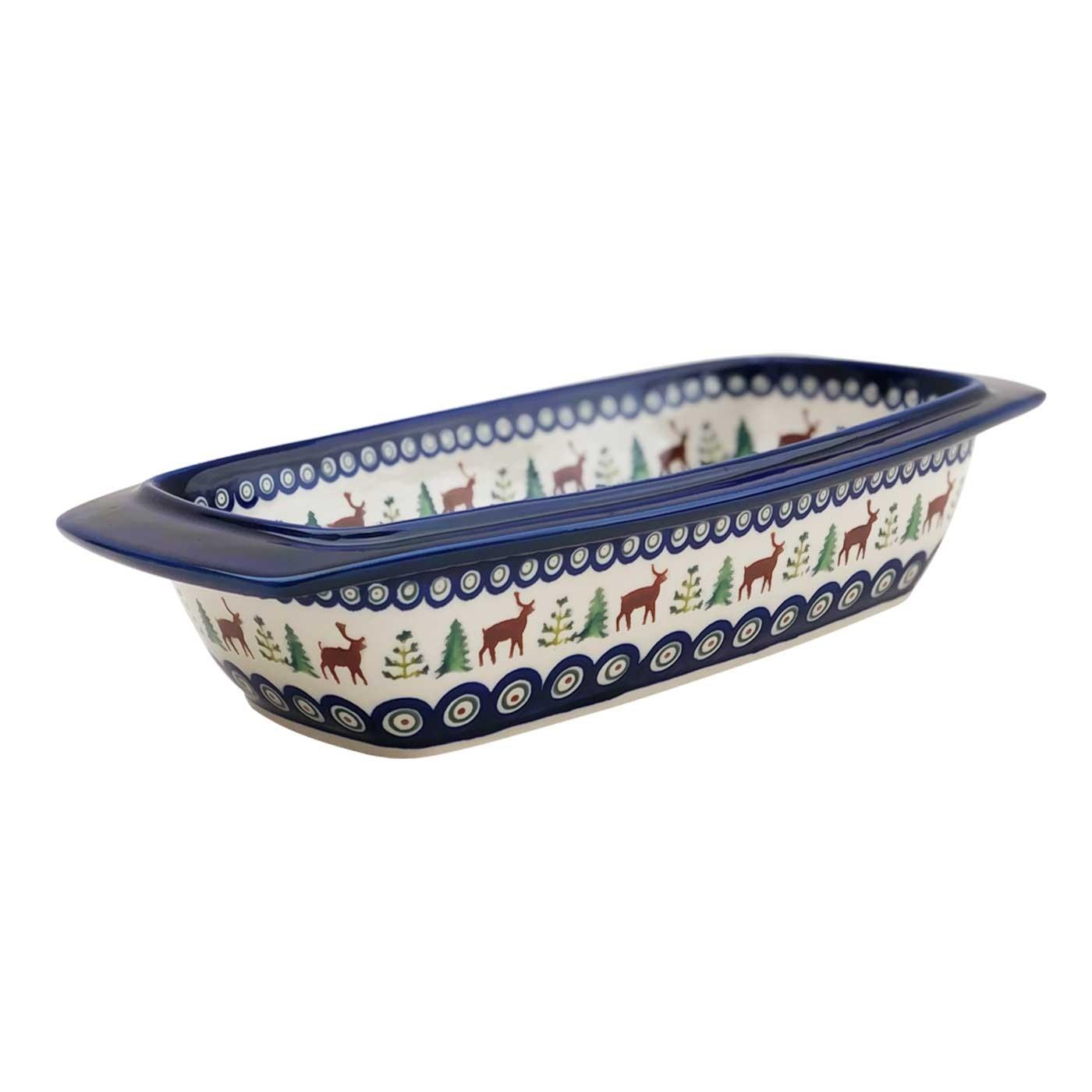 "Pottery Avenue Caribou Lodge 17"" Rectangular Stoneware Baker | Serving Dish"