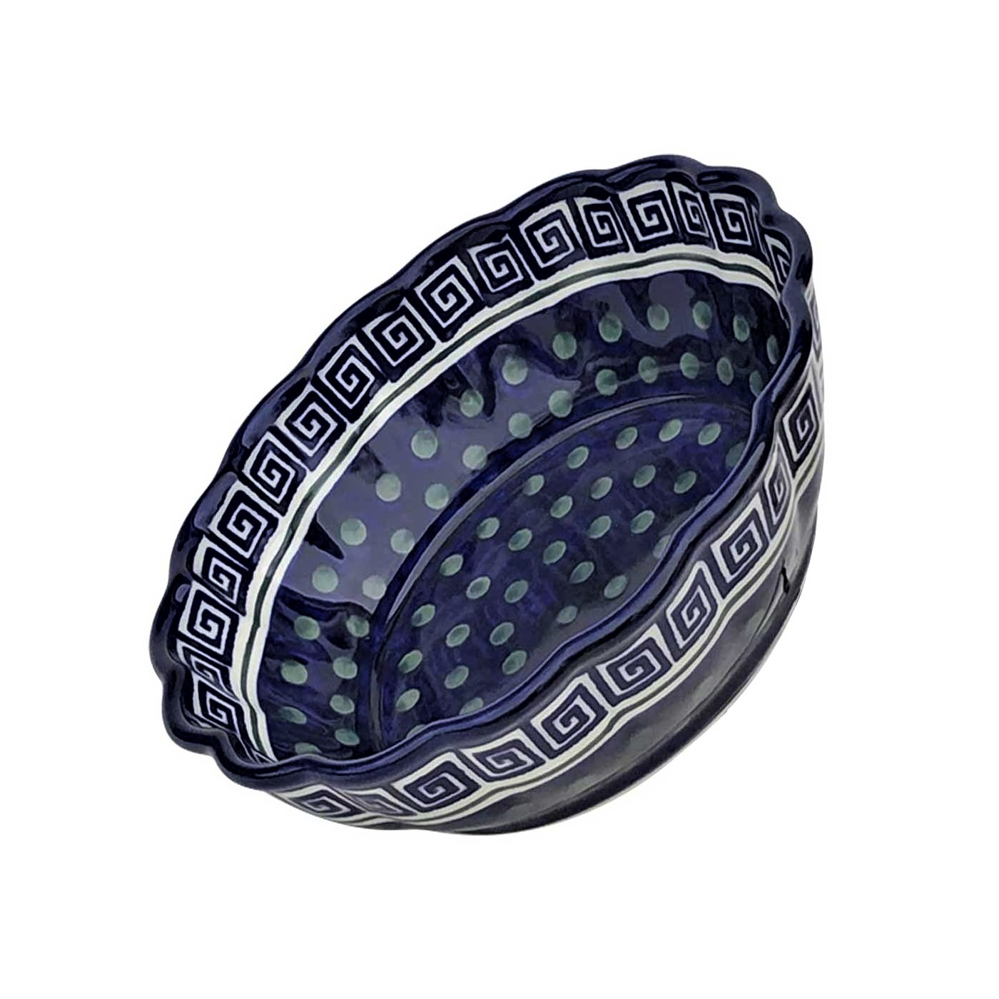 Pottery Avenue Scalloped Stoneware Baking-Serving Bowl - 1278-269A Atlantis